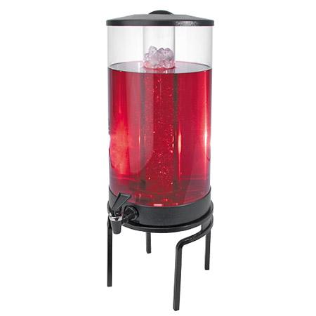 Cal-Mil JC302-13 1-1/2-gal Round Gourmet Beverage Dispenser - Lid, Spigot, Acrylic, Black