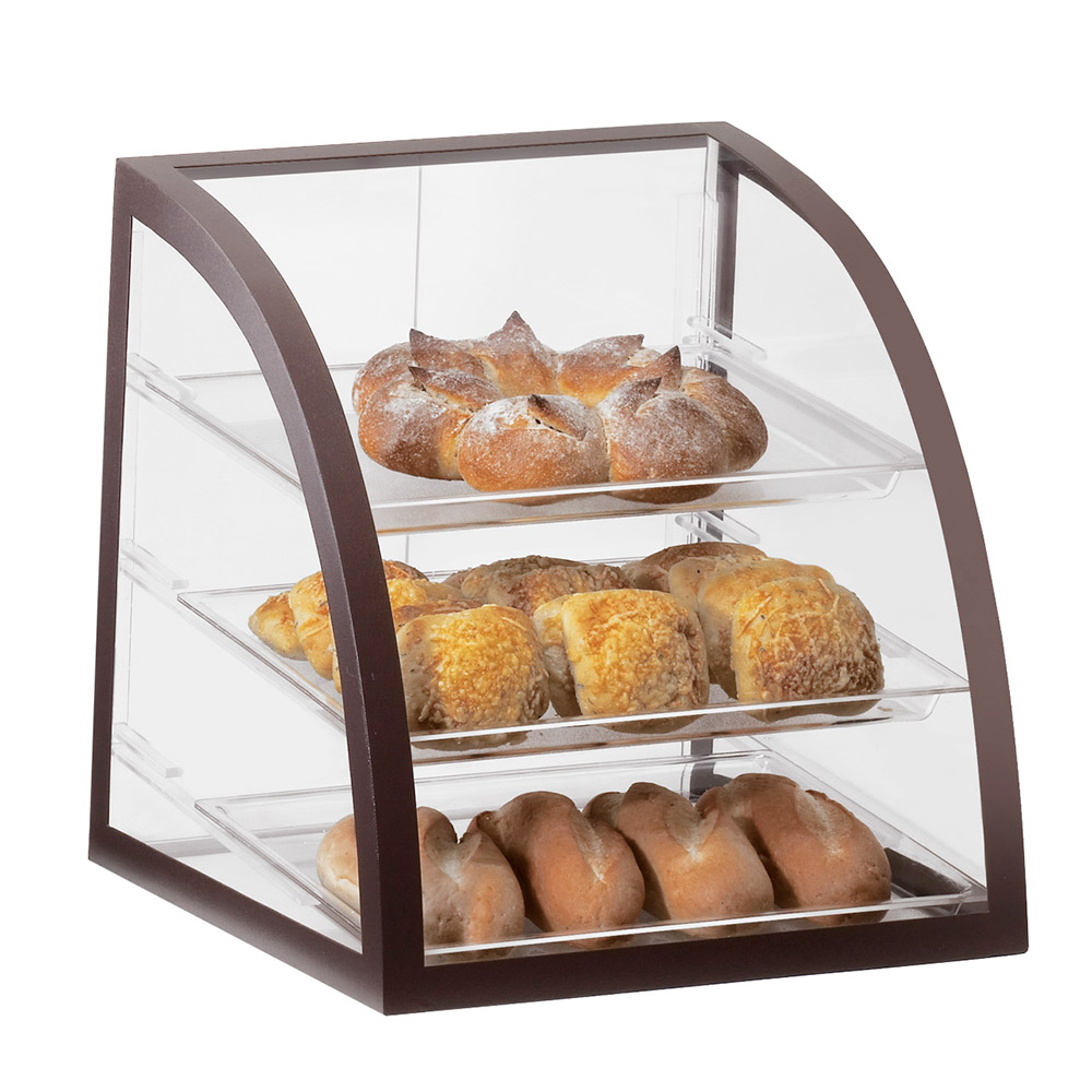 Cal-Mil P255-48 Countertop Display Case w/ Rear Door & Euro Front, Brown Frame