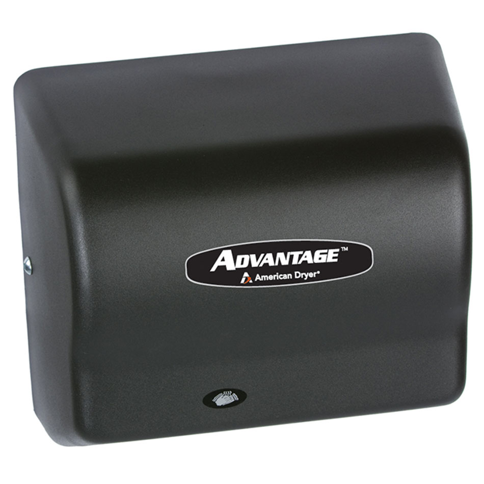 American Dryer AD90-BG Hand Dryer - Auto Sensor, 180-CFM/min, Black Graphite