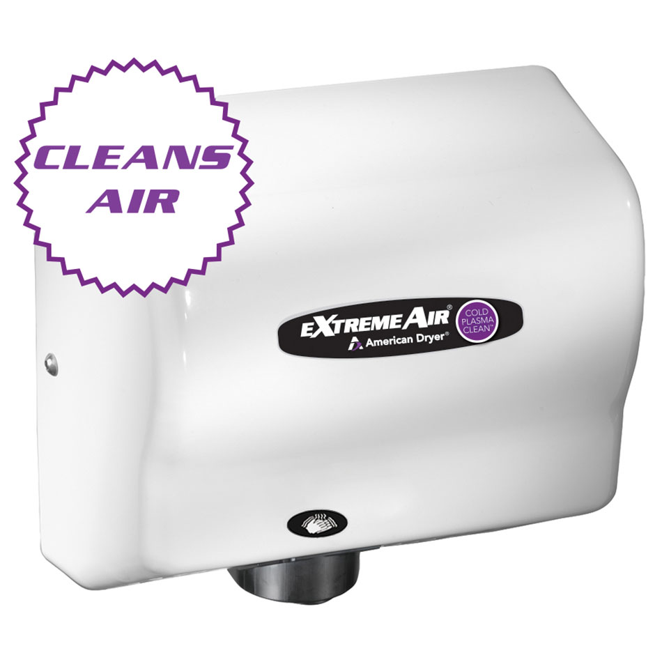 American Dryer CPC9-M Hand Dryer - High Speed, Sanitizes, Purifies, Steel White Epoxy