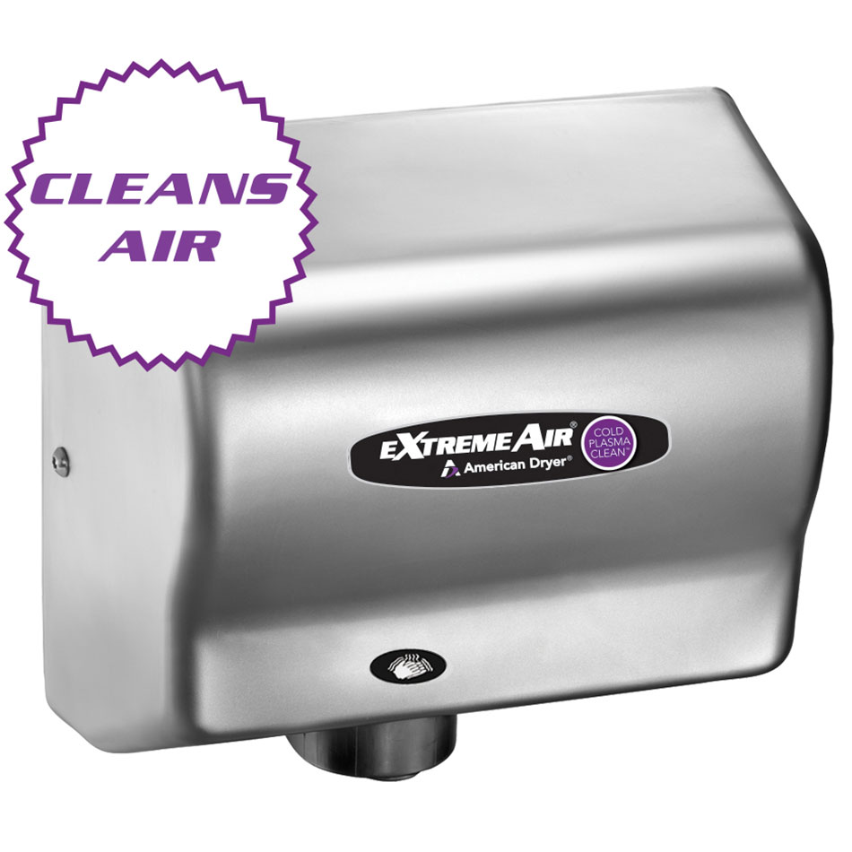 American Dryer CPC9-SS Hand Dryer - High Speed, Sanitizes, Purifies, Stainless