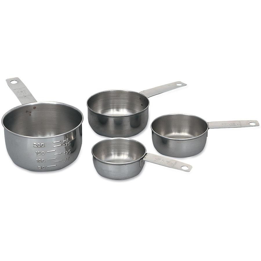 Browne Foodservice 1190MC Measuring Cup Set: 1/4, 1/3, 1/2 & 1 Cup, Long Handles, Graduated