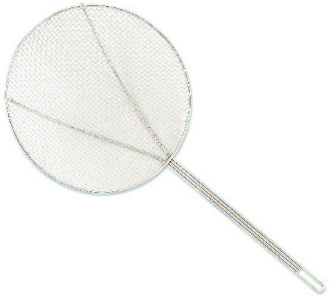 Browne Foodservice 1307T 7-in Round Square Mesh Skimmer w/ Long