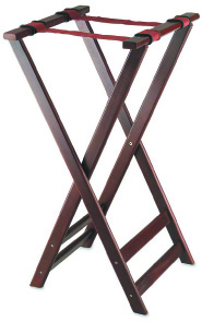 Browne Foodservice 1551 Tray Stand, Folding, 17 x 16-1/4 x 32-1/2 in, Wood