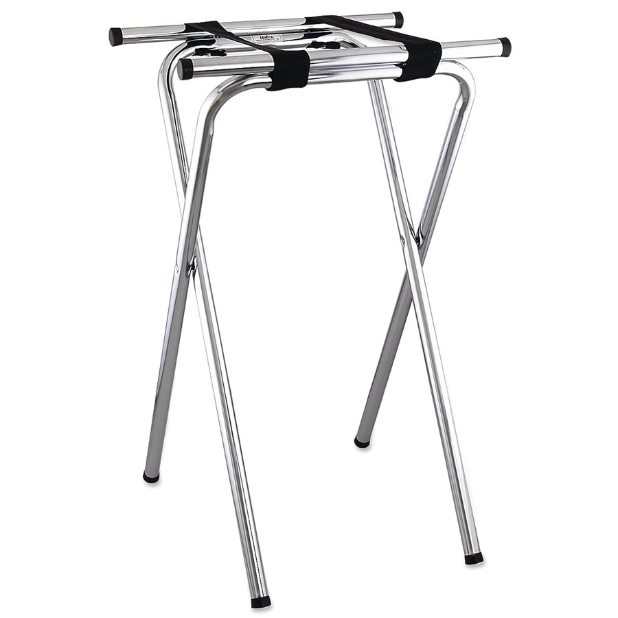 Browne Foodservice 1586 Tray Stand, Folding, Chrome, 19 x 16 x 31 in, Tu