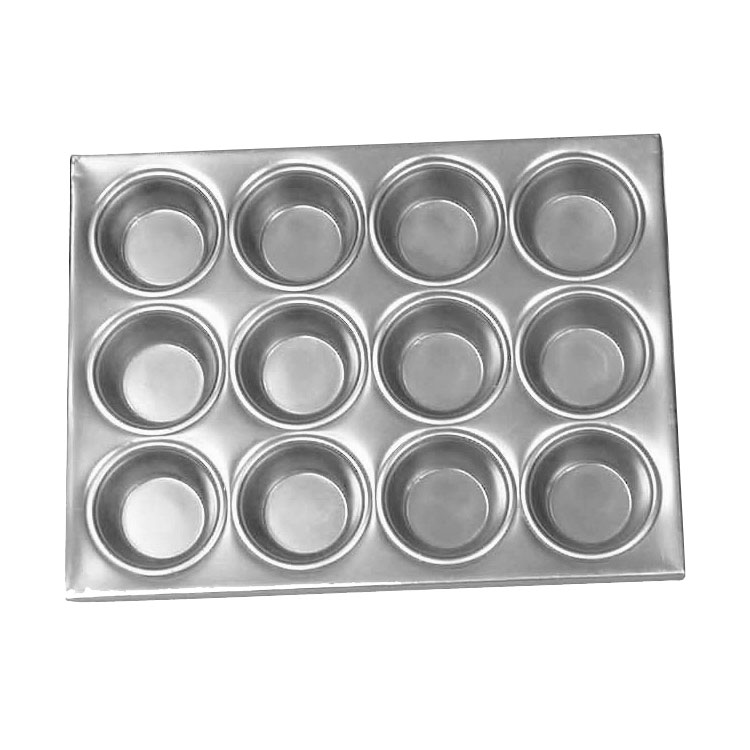 Browne Foodservice 1612A Muffin/Cup Cake Pan, 12 Cup, Aluminum
