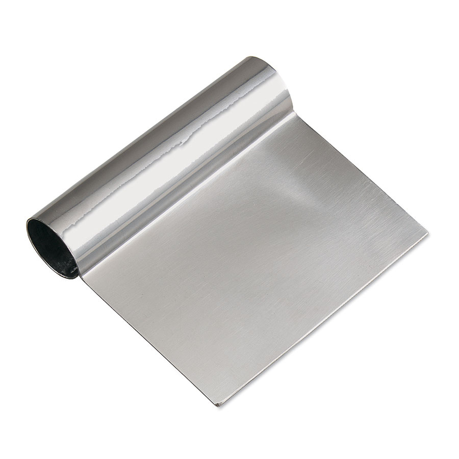 Browne Foodservice 181SS Dough Scraper, Stainless Steel, 4-1/2 x 5 in