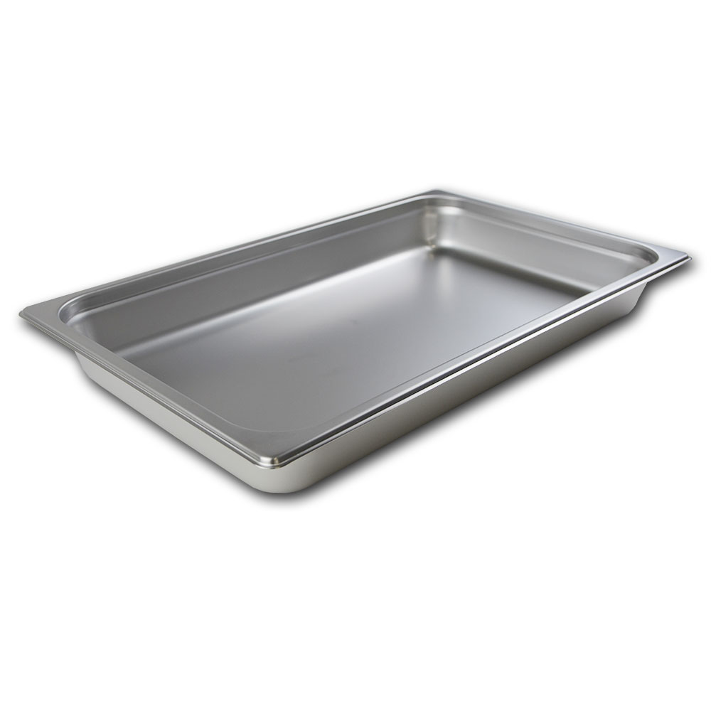 Browne Halco 22002 Stack-A-Way Steam Table Pan Full Size 2-1/2 in Deep 22 Gauge Restaurant Supply