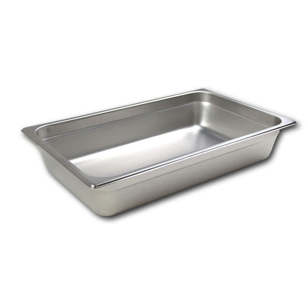 Browne Halco 22004 Stack-A-Way Steam Table Pan Full Size 4 in Deep 22 Gauge Restaurant Supply