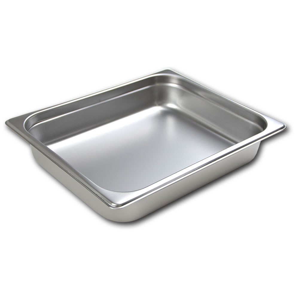 Browne Foodservice 22122STP 1/2-Size Steam Pan, 2.5-in Deep, 22-Ga.