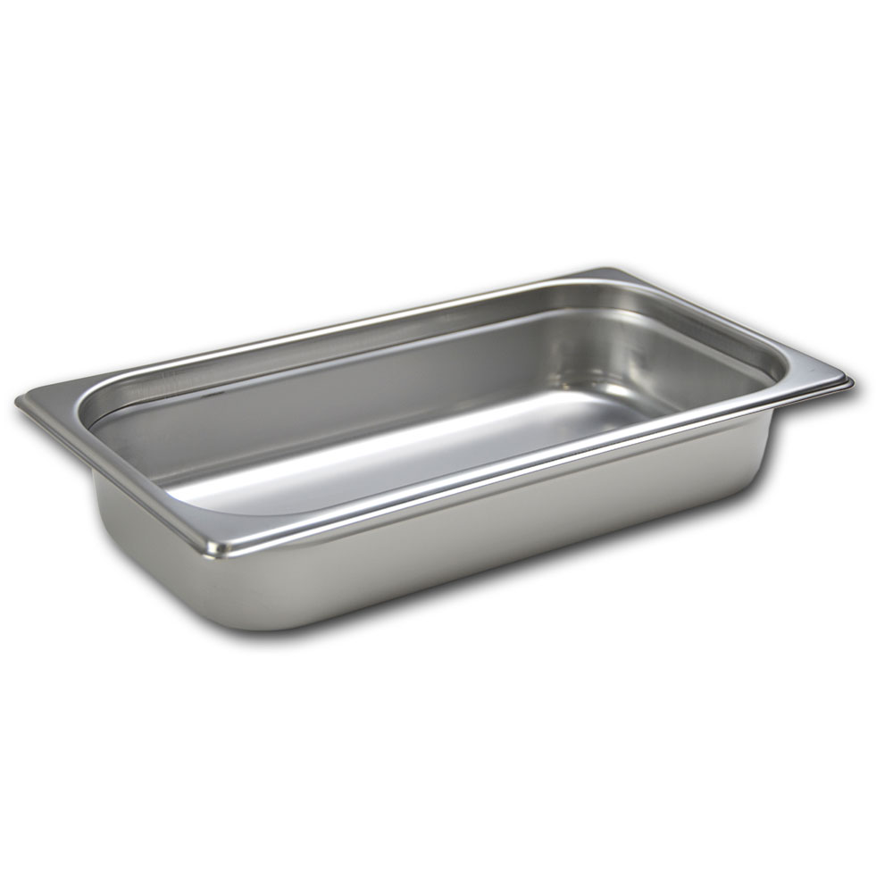 Browne Halco 22134 Stack-A-Way Steam Pan 1/3 Size 4 in Deep 22 Gauge Stainless Steel Restaurant Supply