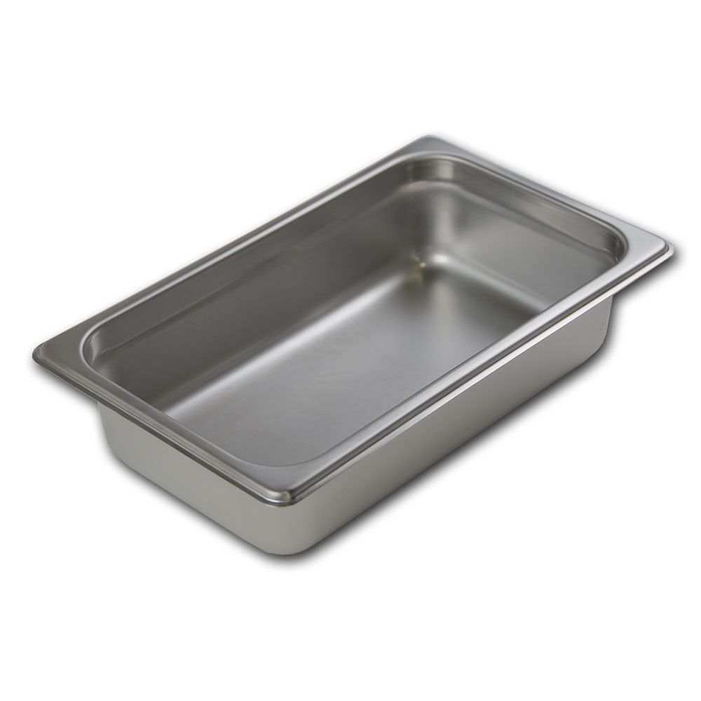 Browne Halco 22144 Stack-A-Way Steam Table Pan 1/4 Size 4 in Deep 22 Gauge Restaurant Supply