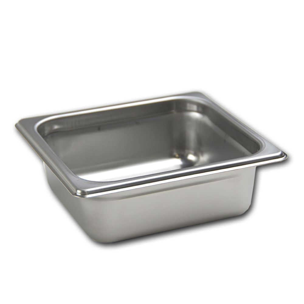 Browne Foodservice 22164 Stack-A-Way Steam Table Pan, 1/6 Size, 4 in Deep, 22 Gauge