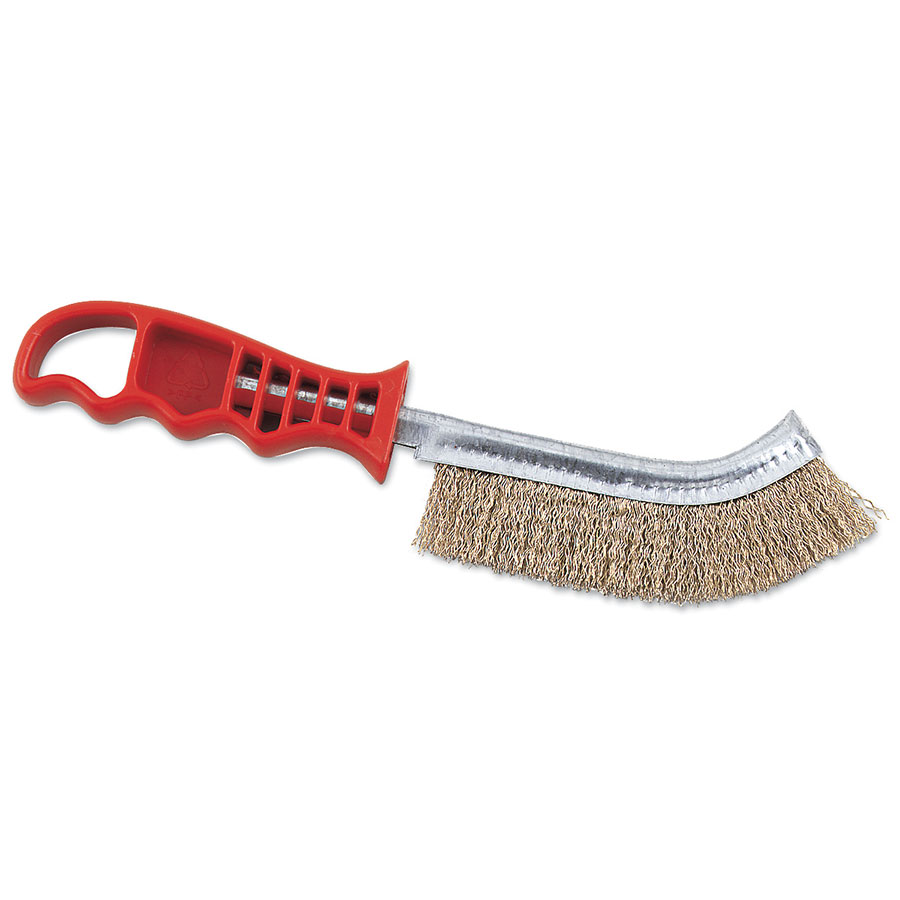 Browne Foodservice 4203 Broiler/Grill Brush, 11 in, Stiff Wire Bristles