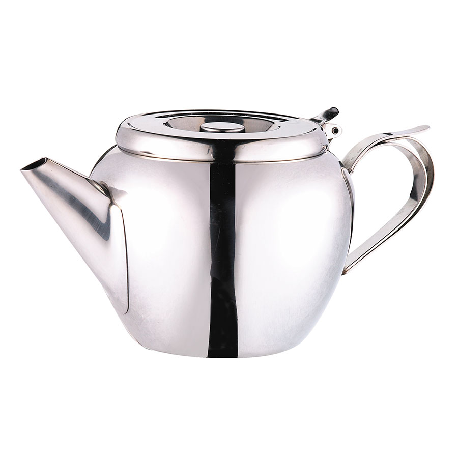 Browne Foodservice 515153 32-oz Stackable Teapot - 18/8 Stainless Steel