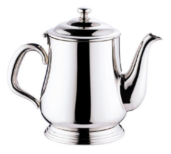 Browne Foodservice 515830 Paris Teapot, 12 oz, 18/10 Stainless Steel