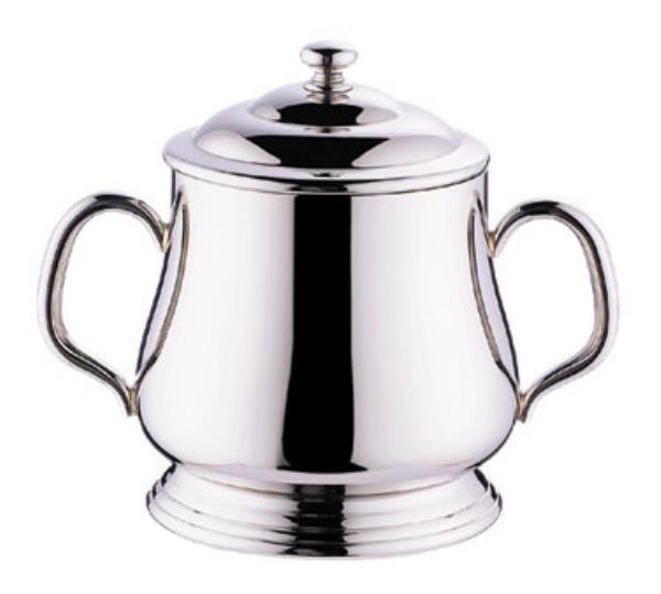 Browne Foodservice 515849 Paris Sugar Bowl, 10 oz, with Cover, 18/10 stainless