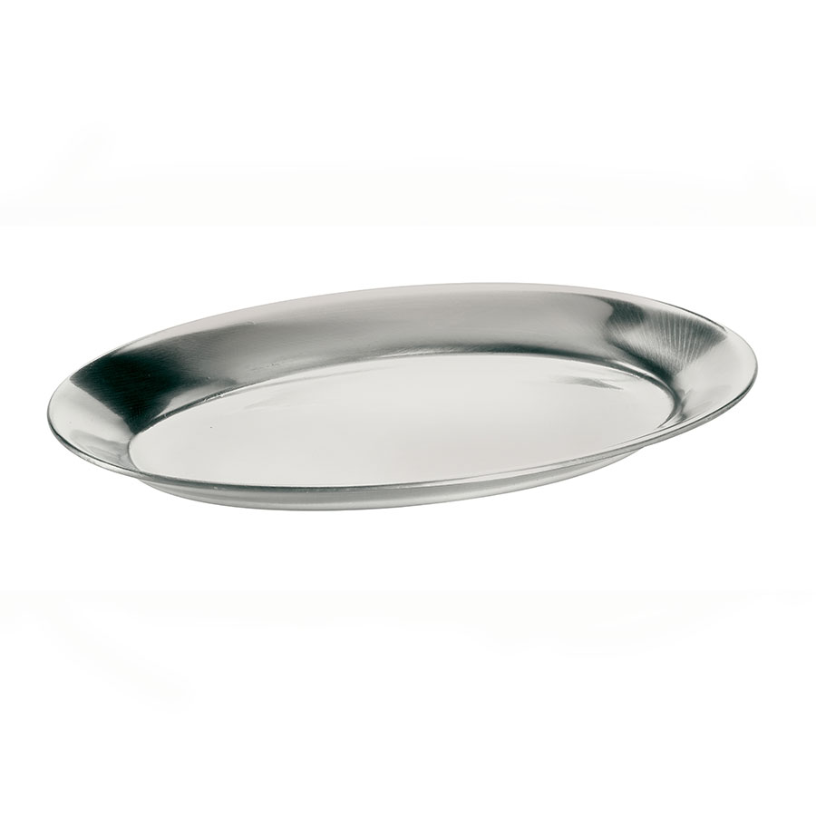 Browne Foodservice 561DC Steak Platter, Aluminum, 7 x 10-1/2 in, Mirr