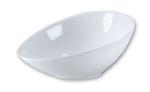 Browne Foodservice 563872 Oval Ceramic Bowl, 12-1/2 x 9 in, White, Ovid