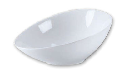 Browne Foodservice 563872 Oval Ceramic Bowl, 12-1/2