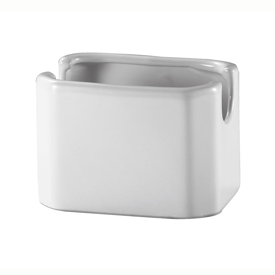 Browne Foodservice 564001 Sugar Packet Holder, White Poreclain