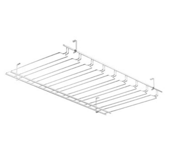 Browne Foodservice 57183650 Overhead Glass Hanger/ Rack, 8 Slot, Chrome