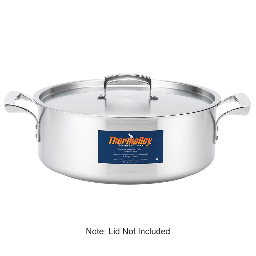 Browne Foodservice 5724009 Thermalloy Brazier, 8 qt, without Cover, 18/10 Stainless Steel