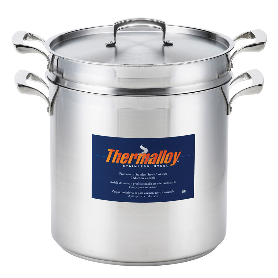 Browne Foodservice 5724082 Thermalloy Pasta Cooker, 12 qt Pot with Perforated Insert & Cover