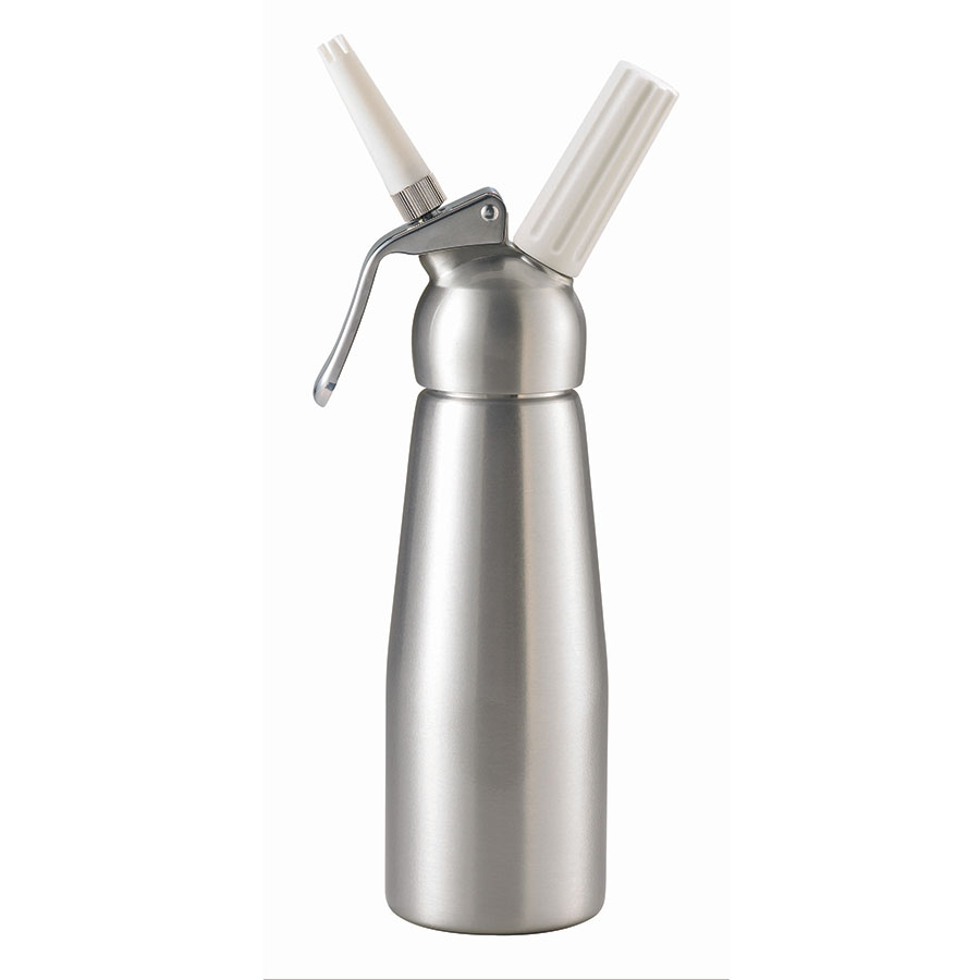 Browne Foodservice 574350 Whipped Cream Dispenser, 17 oz, Two Nozzles, Aluminum