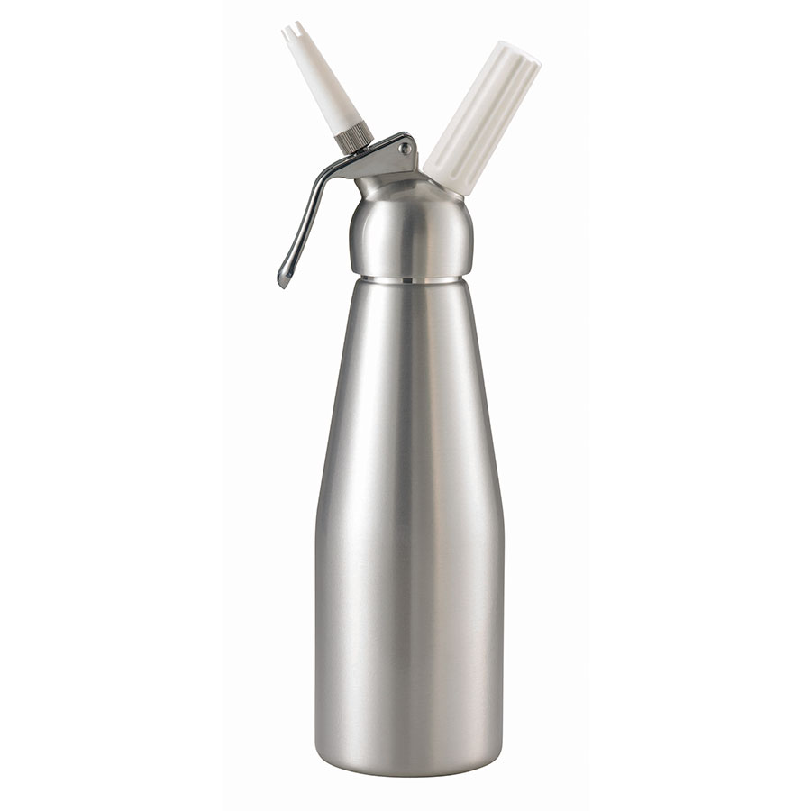 Browne Foodservice 574351 Whipped Cream Dispenser, 34 oz, Two Nozzles, Aluminum