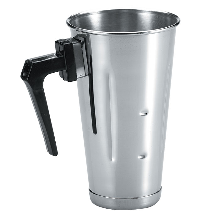 Browne Foodservice 57512 Malt Cup, 32 oz, with Handle, Stainless Steel