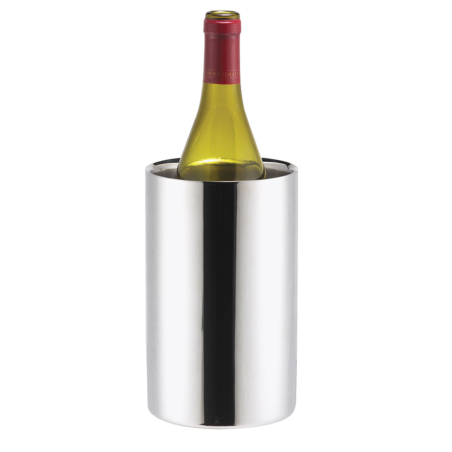 Browne Foodservice 57513 Wine Cooler, 50 oz,  Insulated, 4-1/2 in Diameter, 18/10 Stainless Steel