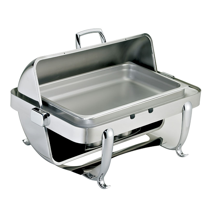 Browne Foodservice 575170 Octave Chafer, Full Size, 9 qt, Dripless, Roll Top, Stainless Steel