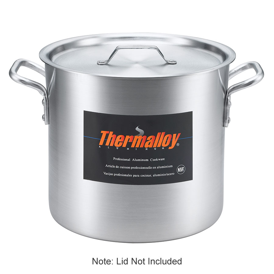 Browne Halco 5813180 Thermalloy Stock Pot 80 qt No Cover Aluminum Restaurant Supply