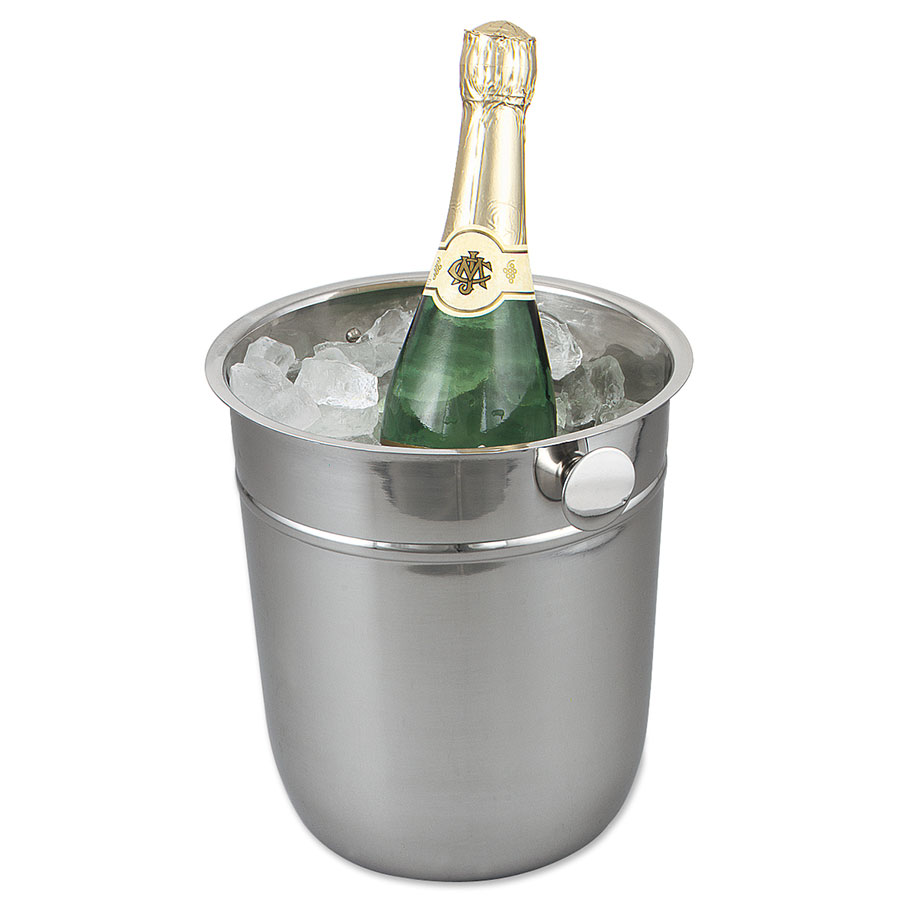Browne Foodservice 69501 Wine Bucket, 9-1/2 in, 18/8 Stainless Steel