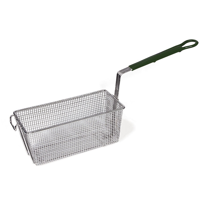 Browne Foodservice 79204 Fry Basket, 13 x 5-3/8-in, Green Handle