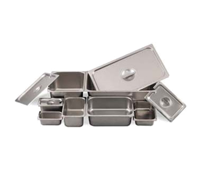 Browne Foodservice 8004 14.8-qt Steam Table Pan w/ Reinforced Edge & Corners, 20.75 x 12.75 x 4-in
