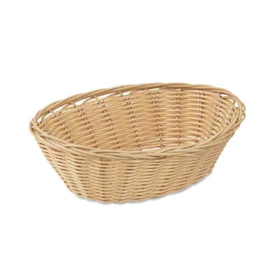 Browne Foodservice 8879 Basket, 9 x 7 x 3 in , Oval, Polypropylene, Odorless, Dishwasher Safe