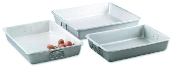 Browne Foodservice A14203 Roast Pan, 14 x 20 x 3 in, Aluminum, w/ Square Loop Handles