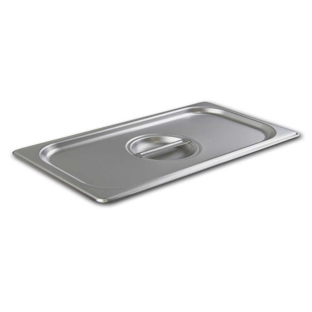 Browne Foodservice CP2224L 1/2-Size Long Stainless Steam Pan Lid w/ Handle