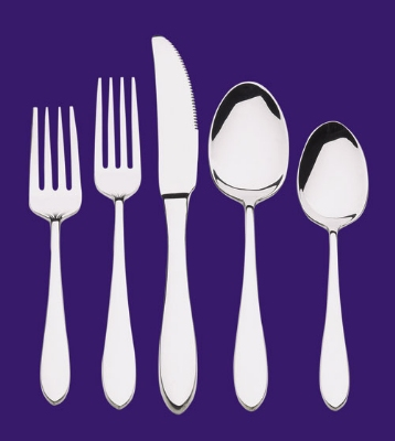 Browne Halco 502113 Eclipse Round Soup Spoon 18/0 Stainless Steel Restaurant Supply