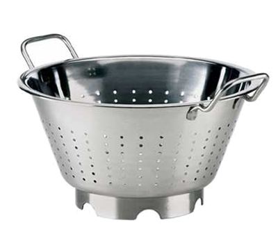 Browne Foodservice 575950 12.75-in Round European Colander, 7.25-qt, Stainless, Mirror Finish