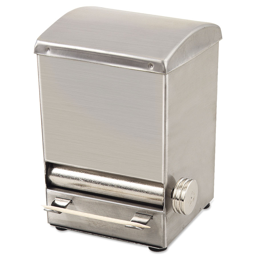 Browne Foodservice ALTD5 Toothpick Dispenser - 18/8 Stainless Steel