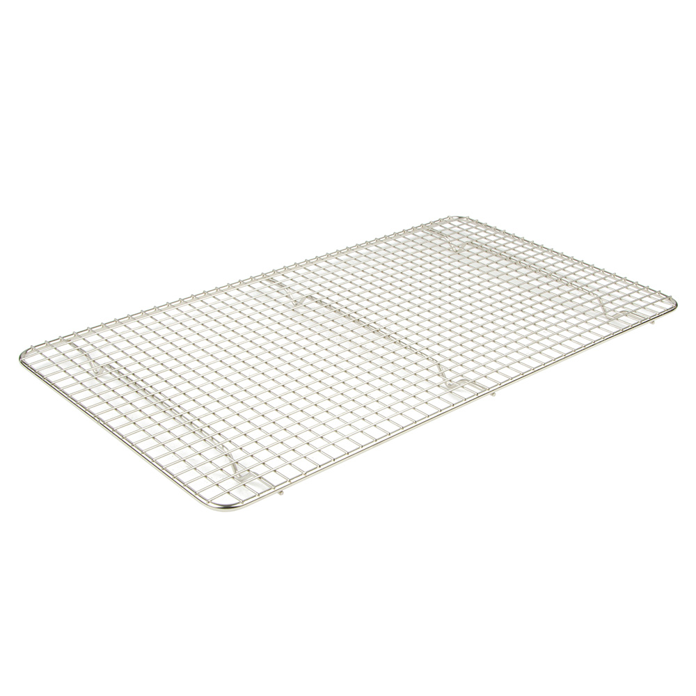 Browne Foodservice PG1018 Pan Grate, 10 x 18 in , Footed, Chrome Plated