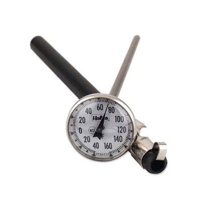 Browne Foodservice PT84101 Pocket Test Thermometer, 0 to 220 degrees F, 1 in Dial, 5 in Stem