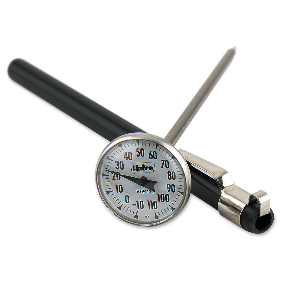 Browne Foodservice PT84113 Pocket Test Thermometer, -10 to 110 degrees C, 1 in Dial, 5 in Stem