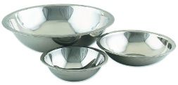 Browne Foodservice S773 Mixing Bowl, 3 qt, Rolled Edge, Mirror Polished, 700 S