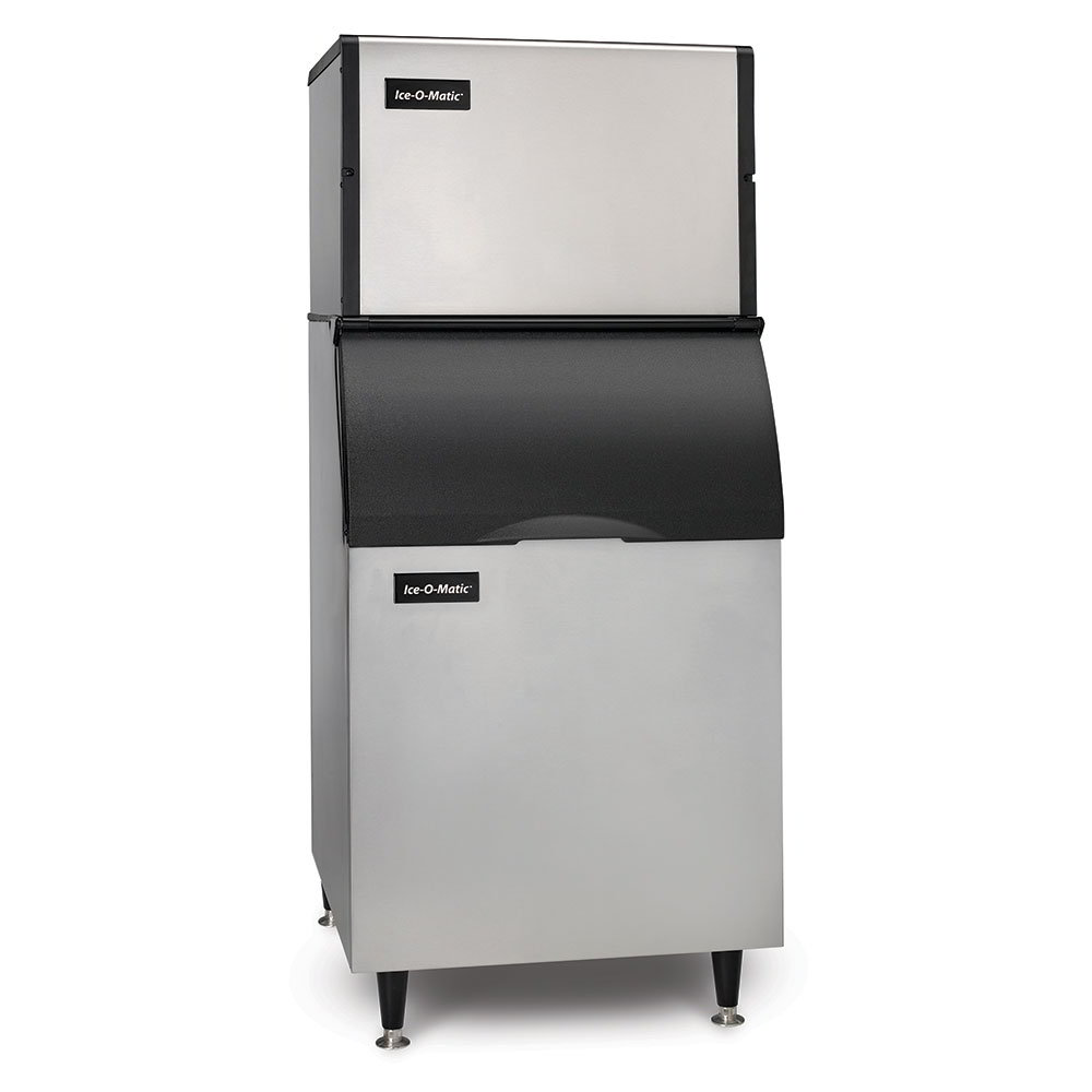 Ice-O-Matic ICE0400HA/B55PS 115V Half-Cube Ice Maker with 510-lb Bin Capacity - 505-lb/24-hr, Air-Cooled