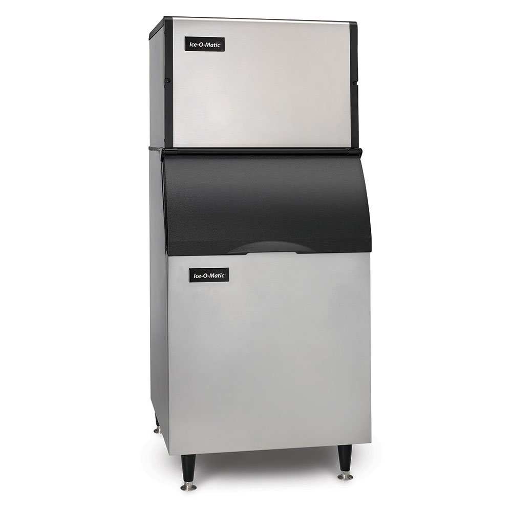 Ice-O-Matic ICE0606HA/B40PS 208V Cube Ice Maker with 344-lb Bin Capacity - 652-lb/24-hr, Air-Cooled