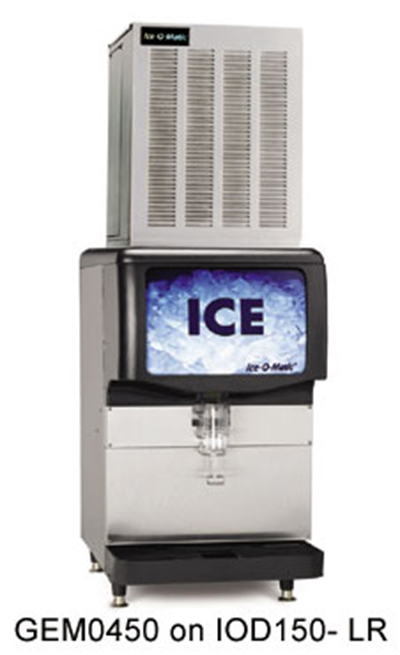 Ice-O-Matic GEM0450W Nugget Ice Maker - 508-lb/24-hr, Water-Cool, Stainless, 115v